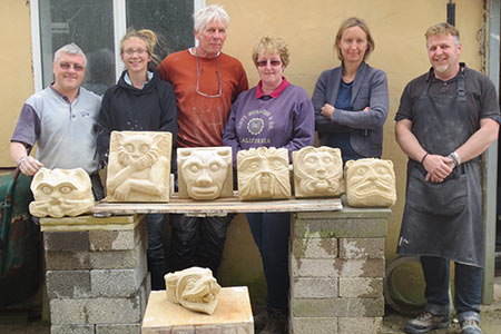 stone carving breaks at valley view near lyme regis